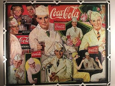 The Coca Cola Co. Early 50's Glued And Framed Puzzle