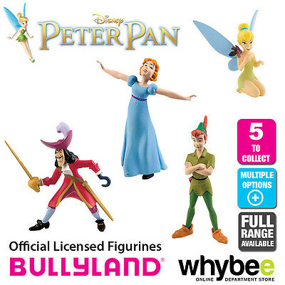 Official Bullyland Disney Peter Pan Figurines - 5 Cake Topper Figures to Collect