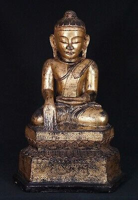 18th century Antique Lotus Buddha Statue from Burma | Antique Buddha Statues