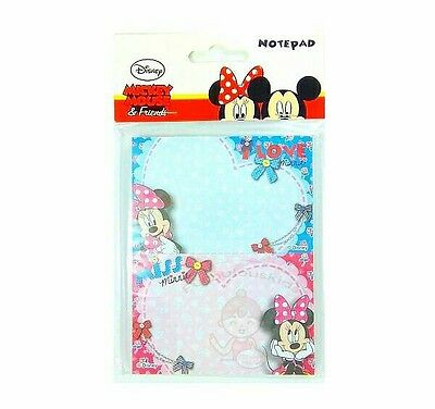 Super Cute Disney Minnie Mouse 50 Sheets Perforated Notepad #c