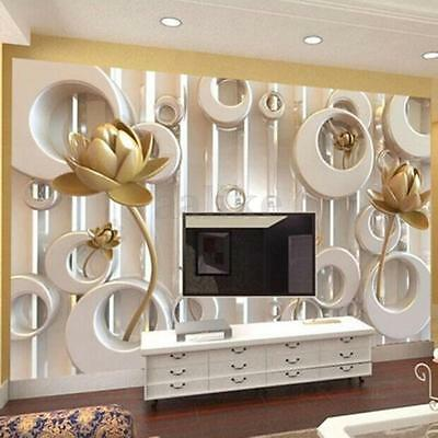 3D Wallpaper Livingroom Decal Mural Roll Modern Luxury Embossed Rose Background
