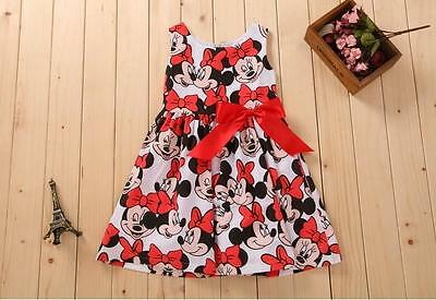 Girls Baby Toddler Disney Minnie Mouse  Bow Summer Dress