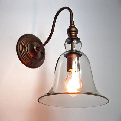 Anti-brass Vintage Retro Wall Lights Edison Lamp Lights Fixture Clear Glass Shap