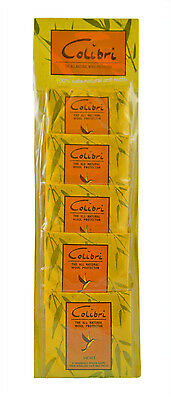 Moth Repellent Sachets Colibri Natural Deterrent Lemongrass Scent Drawer 5 Pack