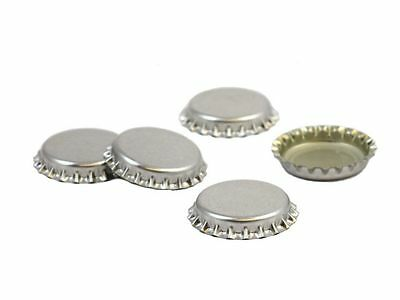 Crown Caps Silver Pack of 100 for 26mm Diameter Bottle Tops New