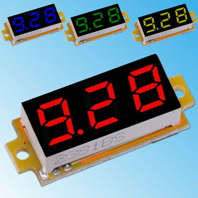 "0-10V DC Voltmeter Digital Display 0.28"" LED Red Blue Yellow Green Panel Module"