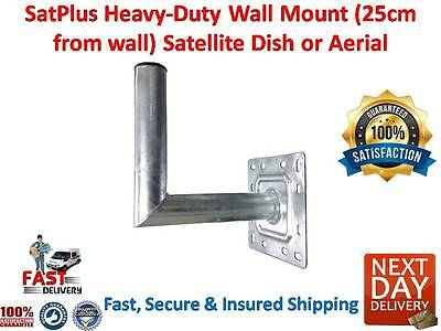 SatPlus Heavy-Duty Wall Mount (25cm from wall) Satellite Dish or Aerial Fast P&P