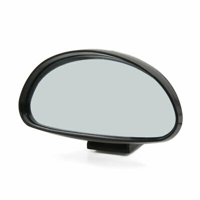 Car Black Shell Half Oval Convex Side Rear View Auxiliary Blind Spot Mirror