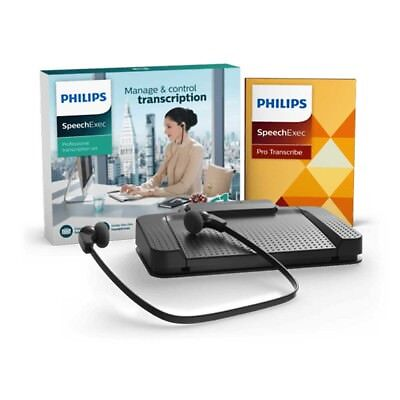 Philips Transcription Kit LFH-7277 with SpeechExec Pro Software *NEW* LFH7277