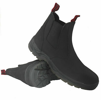 New Mens Lightweight Chukka Leather Safety Work Boot Steel Toe Cap Shoes Sizes