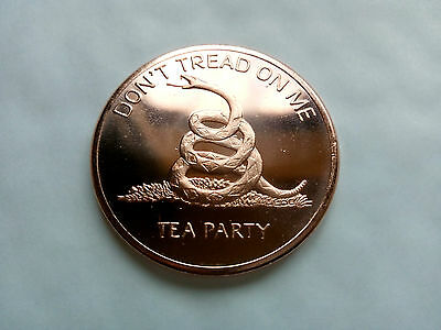 """1 oz Copper """"Don't Tread On Me"""" Tea Party Coin - Golden State Mint"""