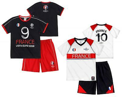 Boys Top Shorts FRANCE Official Football Outfit UEFA EURO 2016 Set 4 to 10 Years