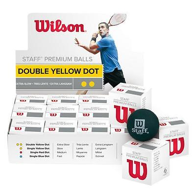 THREE x ( 3 ) WILSON STAFF PREMIUM SQUASH BALL
