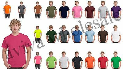 Wholesale Plain T-Shirts Gildan 20+ Color Options Solid Short Sleeve Blank S-XL