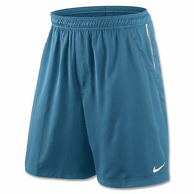 Nike Men's Hard Court Twill Tennis Shorts Blue White New Size S