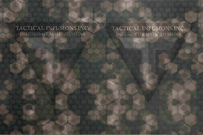 """Kydex Infused Brown Leather Print with Black Kydex Approx 7 7//8/"""" x 7 7//8/"""""""