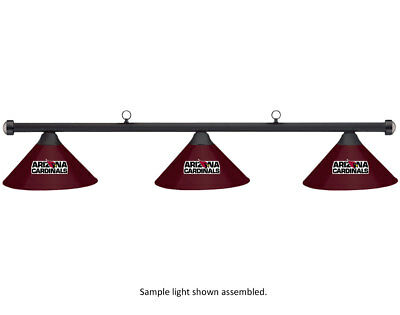 NFL Arizona Cardinals Burgundy Metal Shade & Black Bar Billiard Pool Table Light