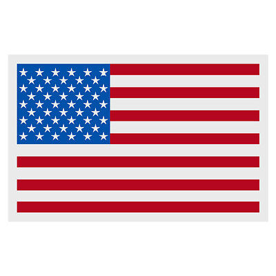 "American Flag Small Reflective Helmet Decal Sticker  (2"" X 3"" approximately)"