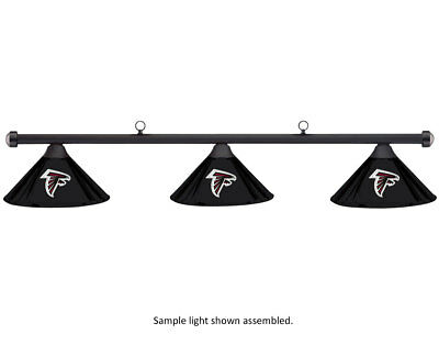 NFL Atlanta Falcons Black Metal Shade & Black Bar Billiard Pool Table Light