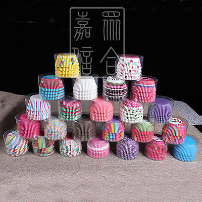 100pcs Paper Cupcake Liner 24 Pattern Options Cake Case Muffin Baking Cup