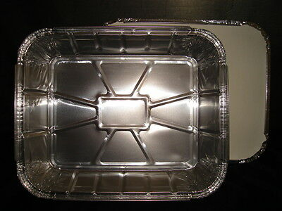 """100 x Large Gastro Foil Container 10""""x13""""x2.5"""" FAST FOOD TAKEAWAY (0307x10)"""