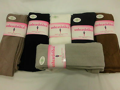 Unheardofdeal Ladies Bamboo Solid Color Footed Tights W458