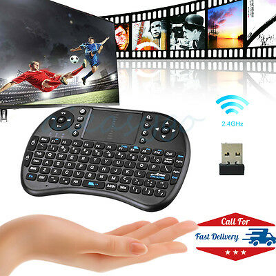 2.4G Wireless Qwerty Fly Air Mouse Keyboard Remote Touchpad USB For KODI TV BOX