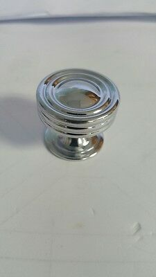 "Polished Chrome Cabinet Knob By Allen& Roth, 1.25""  **[ LOT OF 9 pcs.] **"