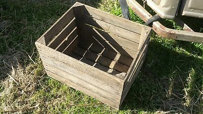 European Vintage Wooden Apple Box / Crate - Shelves Storage Bookcase Shelving...