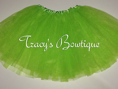 Girls Lime Tulle Tutu Dance Halloween Dress Up Costume Party Princess Fairy