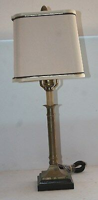 Antique square base brass table lamp Frederick Cooper Chicago?