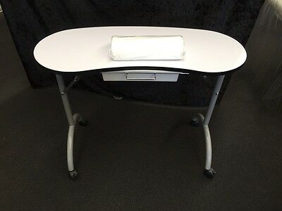 Portable Nail Table Technician Manicure Station Mobile Beauty Therapist New