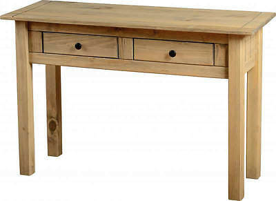 Console Table Pine Hallway Reception Telephone Table 2 Drawer Panama