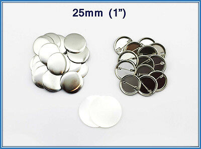 "25mm(1"") 1000sets metal PinBadge Button Parts components for ButtonMaker Machine"