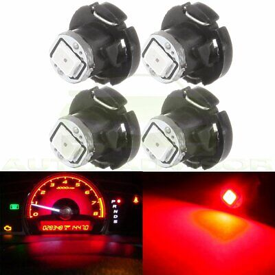 4Pcs Red 1-2835-SMD LED T4.2/T4 Neo Wedge Dash Climate Panel A/C Light Bulb 12V