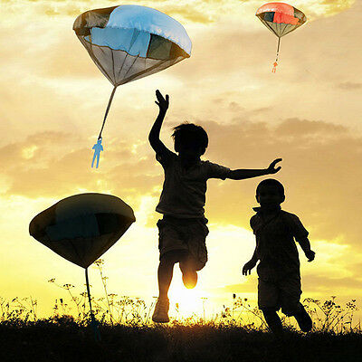 Kids Children Tangle Free Toy Hand Throwing Parachute Kite Outdoor Play Toy
