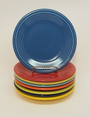 Fiestaware mixed colors Salad Plate Lot of 8 Fiesta 7.25 inch small plate 8C3M3