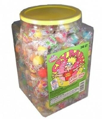 Cry Baby Tears Extra Sour Bubble Gum (Pack of 240). Shipping is Free