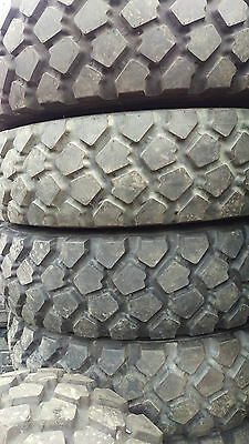 Set of 4 Michelin XZL 9.00R16 offroad tires