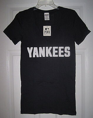 32233a2d Nwt Victoria's Secret New York Yankees Sequin Bling 3 Strikes Out T Shirt  Top