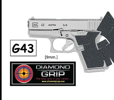 "NEW! Glock 43 + Slide-Grip combo set ""Diamondgripp Silicone-Rubber"" Grip Tape"
