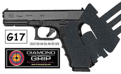 "Glock 17 34 22 24 Combo Grip Tape ""Diamondgripp Silicone-Rubber + SlideGrip set"""