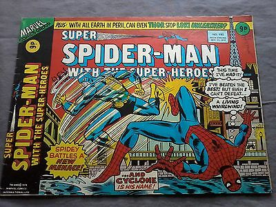 Marvel Comics Spider Man With The Super Hero And Cyclone N°192 - 1976 - Anglais