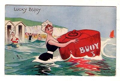 ARTIST PAYNE  Lucky B(u)oy  COMIC ADVERTISING pc PU1911 from MOORE to DRILLHAM Q