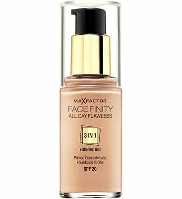 MAX FACTOR FACE FINITY 3 IN 1 FOUNDATION 30ml choose your shade