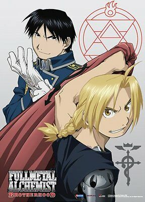 *NEW* Fullmetal Alchemist Brotherhood: Edward Elric & Roy Mustang Fabric Poster