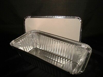 100 x Large 6a Foil Container (Heavy Duty) FAST FOOD TAKEAWAY HOT FOODS (0301/5)