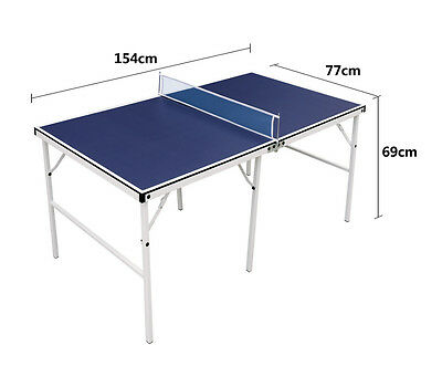 Blue Folding Portable Table Tennis Table Ping Pong Table Sets Children Kids Gift