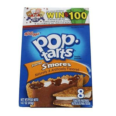 2x Kelloggs Pop Tarts Toaster Pastries 8 Pack - Frosted Smores Flavour