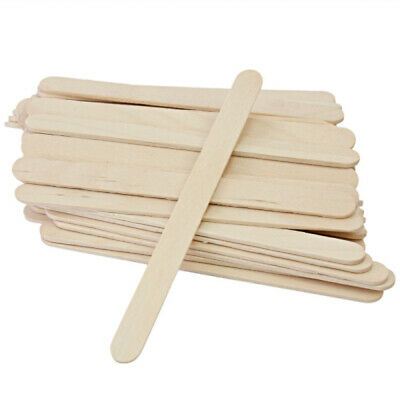 100 Pcs Disposable Waxing Wooden Wax Spatulas Applicator For Body Hair Removal